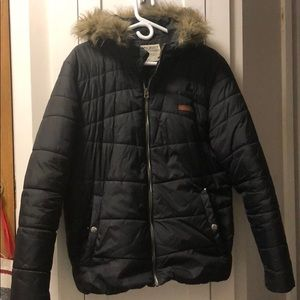 Jack & Jones men's winter puffer jacket black sz L
